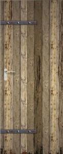 Geräteschuppen selber bauen - Holztür