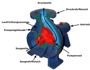 Kreiselpumpe Jet-Pumpe Querschnitt