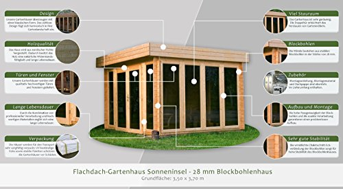gartenhaus flachdach 350 x 350 my blog. Black Bedroom Furniture Sets. Home Design Ideas