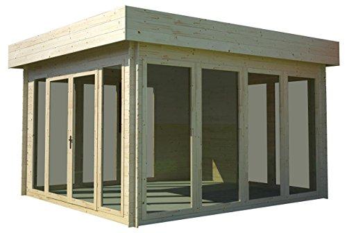 gartenhaus holz sonneninsel 350 x 370 cm sehr schick modern. Black Bedroom Furniture Sets. Home Design Ideas