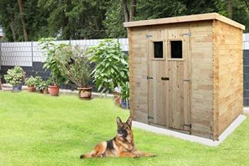 Gartenhaus Holz Leonhard 130 x 200 cm