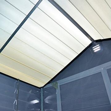 Gartenhaus Skylight 185 x 230 cm grau