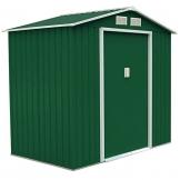 SVITA XL Metall Gerätehaus 213x127x185cm grün
