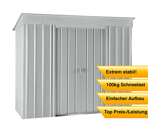 Gartenhaus globel industries 233 x 113 cm top ger tehaus for Metall gartenhaus