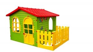 Spielhaus Kunststoff mit Veranda