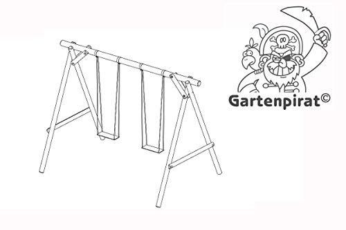 Schaukel Gartenpirat Holz Classic Typ 1.2