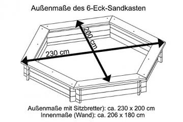 Sandkasten Sechseck Gartenpirat