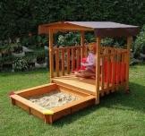 Gaspo Spielhaus mit Sandkasten oder Planschbecken