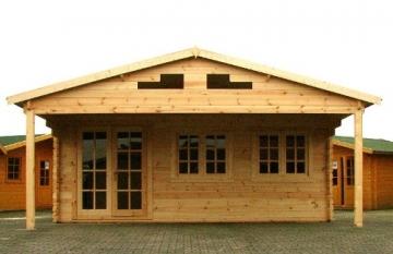 Gartenhaus Dresden 600x500cm + 250cm Vordach
