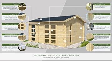 Gartenhaus G99 360 x 456 cm
