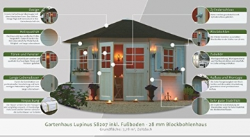 305 x 305 cmGartenhaus Lupinus S8207 305 x 305 cm
