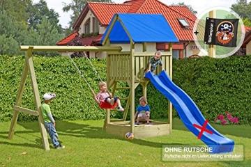 Spielturm Premium S Gartenpirat mit Schaukel und Sandkasten