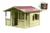 Kinderspielhaus Lisa Holz mit Veranda Gartenpirat