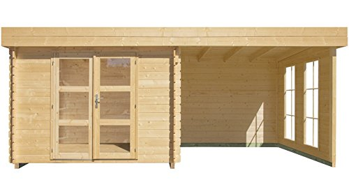 Gartenhaus Luoman Lillevilla 484 ++ 280 x 280 cm ++ Top Gerätehaus