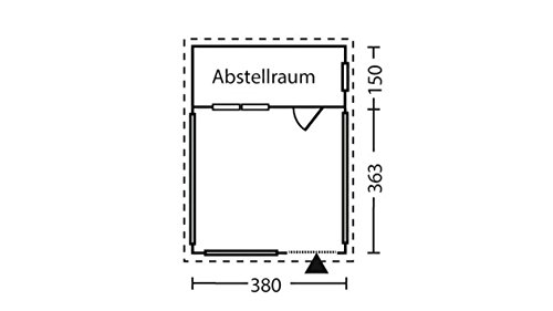 Gartenhaus Skan Alicante Größe 1 380 x 513 cm