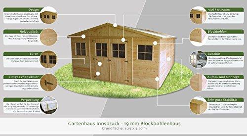 Gartenhaus Innsbruck 414 x 420 cm Steiner Shopping