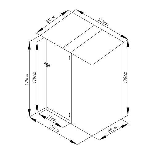 SVITA Geräteschrank Metall Anthrazit