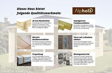 Alpholz 5 Eck Gartenhaus LIWA-28, 595 x 300 cm