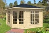 Alpholz 5-Eck Gartenhaus Josephine-40 B mm 352 x 352 cm