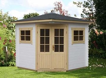 Alpholz 5-Eck Gartenhaus Modell Sunny-A, 28 mm 200 x 200 cm