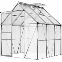 Deuba Aluminium Gewächshaus 190x195cm