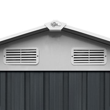 Deuba XL Metall Gerätehaus 210 x 132 cm Anthrazit