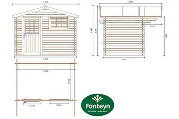 Gartenhaus Fonteyn Heleen 300 x 200 cm