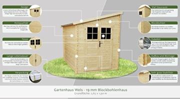 Gartenhaus Wels 265-190 cm 19 mm