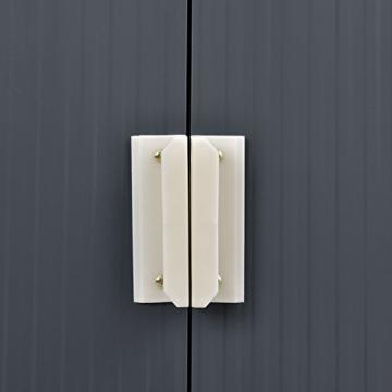 Juskys Metall Gerätehaus XL 277 x 181 cm anthrazit
