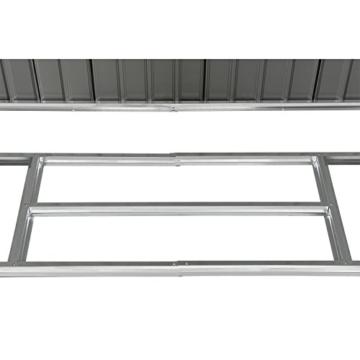 Juskys Metall Gerätehaus XXL 309 x 277 cm anthrazit