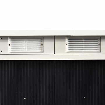 Outsunny Gerätehaus 277 x 130 cm grau