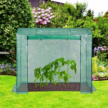 Relaxdays Tomatengewächshaus 170x80x200 cm