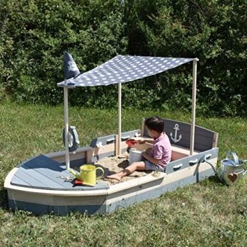 Sandkasten Boot Krabbe XXL aus Holz Schiff
