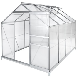 TecTake Aluminium Gewächshaus 250x185x195 cm